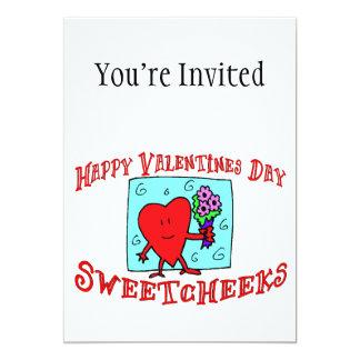 Día de San Valentín feliz Sweetcheeks Invitación 12,7 X 17,8 Cm