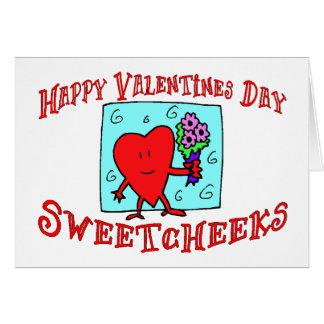 Día de San Valentín feliz Sweetcheeks Tarjeta De Felicitación