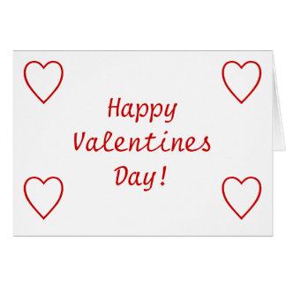 ¡Día de San Valentín feliz! Tarjeta De Felicitación