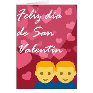 Día de San Valentín Hombre Hombre Corazón Tarjeta
