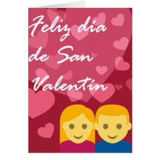 Día de San Valentín Hombre Mujer Corazón Tarjeta De Felicitación