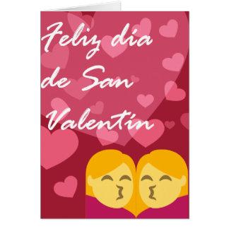 Día de San Valentín Mujer Mujer Besando Tarjeta De Felicitación