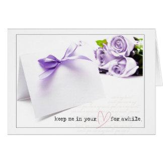día de San Valentín púrpura de los rosas Tarjeta De Felicitación