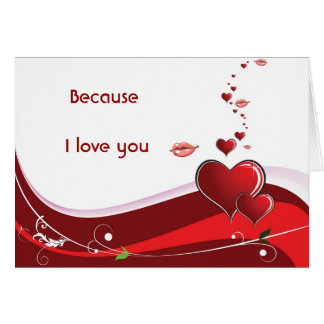 Día de San Valentín romántico Tarjetón