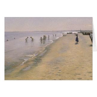 Día de verano en la playa del sur de Skagen, 1884 Tarjeta