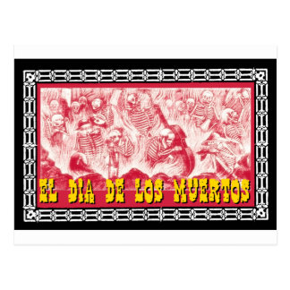 Día del adorno muerto 6 postal