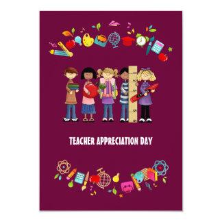 Día del aprecio del profesor. Tarjetas adaptables Comunicados