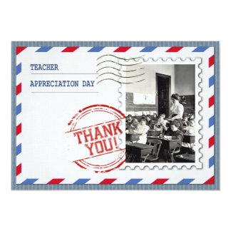 Día del aprecio del profesor. Tarjetas adaptables Invitación 12,7 X 17,8 Cm