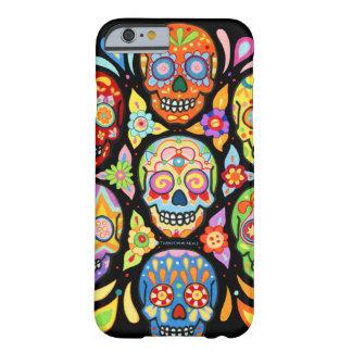 Día del caso muerto del iPhone 6 de los cráneos Funda De iPhone 6 Barely There