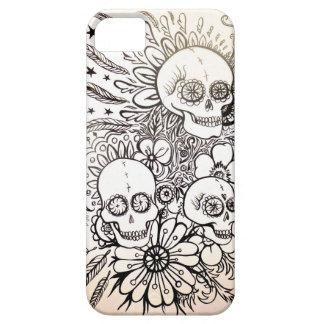 día del cráneo del azúcar de arte muerto de la funda para iPhone SE/5/5s