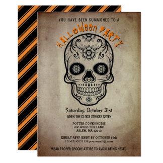 Día del cráneo del azúcar del fiesta de Halloween Invitación 12,7 X 17,8 Cm