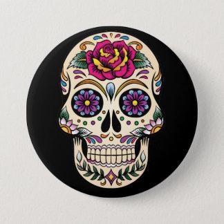 Día del cráneo muerto del azúcar con el botón