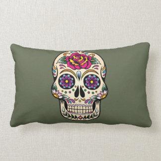 Día del cráneo muerto del azúcar con la almohada