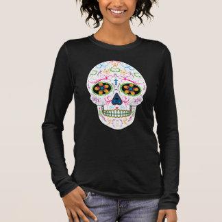 Día del cráneo muerto del azúcar - multicolor camiseta de manga larga