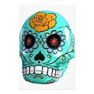 Día del cráneo muerto del caramelo de la papelería personalizada
