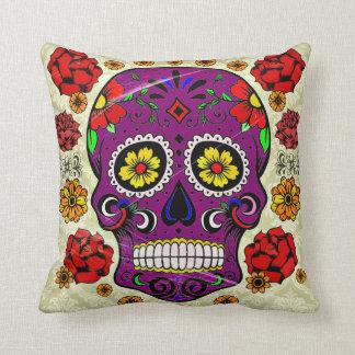 Día del cráneo púrpura del azúcar de la almohada