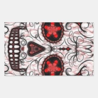 Día del fractal rojo y negro muerto del cráneo del rectangular altavoces