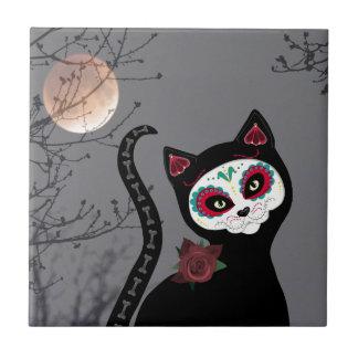 Día del gato muerto azulejo de cerámica