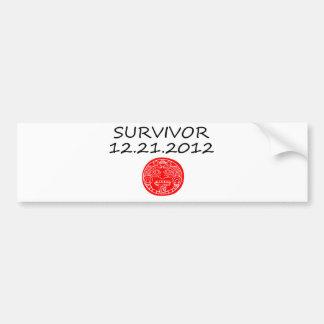 Día del juicio final maya 12 del superviviente 21  pegatina para coche