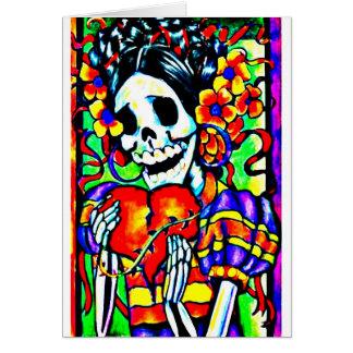 Día del La muerto Calavera Catrina Tarjeta De Felicitación