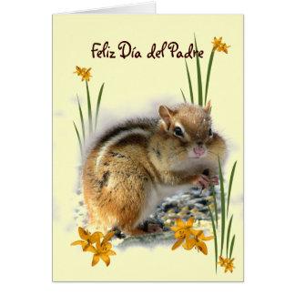 Dia del Padre de Chipmunk Tarjeta De Felicitación