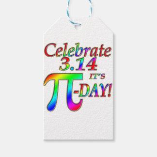 Día del pi etiquetas para regalos