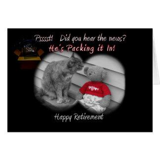 Día del retiro tarjeta de felicitación