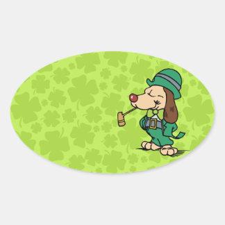¡Día del St. Patricks! Pegatina Ovalada