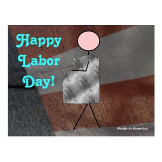 Día del Trabajo feliz Postal