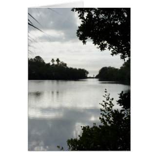 Día en el lago tarjeta