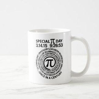 Día especial 2015, espiral del pi taza de café