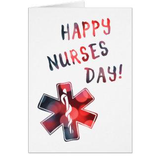 día feliz BOKEH de las enfermeras Tarjeta De Felicitación
