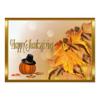 Día feliz de la acción de gracias invitación 12,7 x 17,8 cm