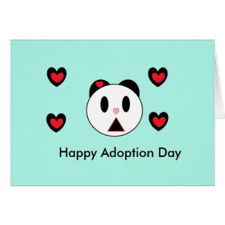 Día feliz de la adopción tarjeta de felicitación