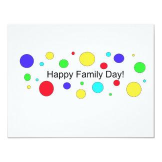 ¡Día feliz de la familia! Invitación 10,8 X 13,9 Cm