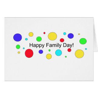 ¡Día feliz de la familia! Tarjeta De Felicitación