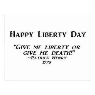 Día feliz de la libertad postal