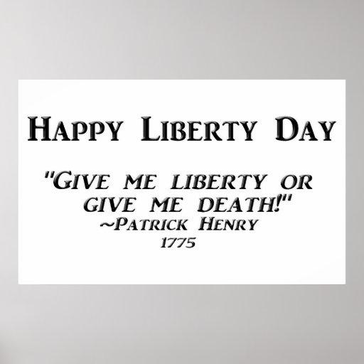 Día feliz de la libertad posters