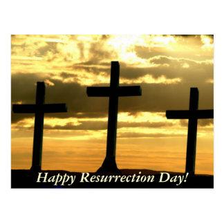 ¡Día feliz de la resurrección! Postal