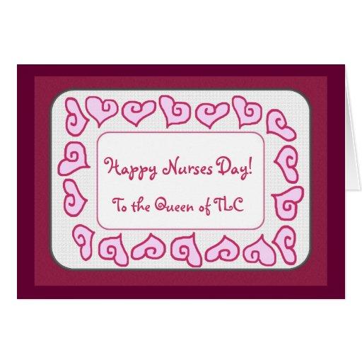 Día feliz de las enfermeras a la reina del TLC Tarjeton