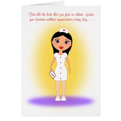 Día feliz de las enfermeras a un amor, enfermera q felicitación