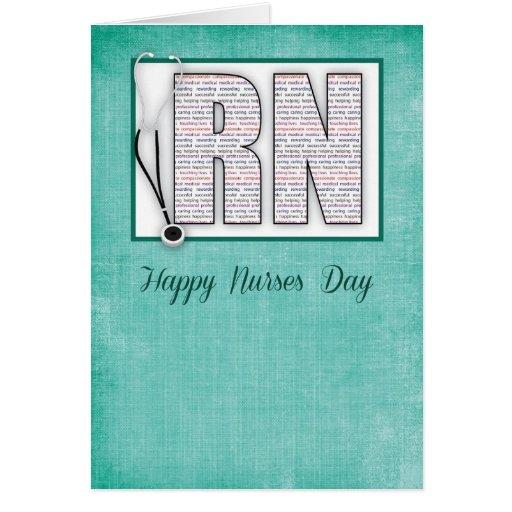 Día feliz de las enfermeras del RN en palabras, en Felicitación