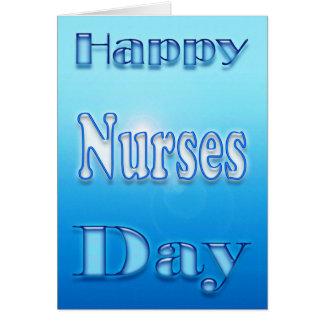 Día feliz de las enfermeras floral tarjeta de felicitación