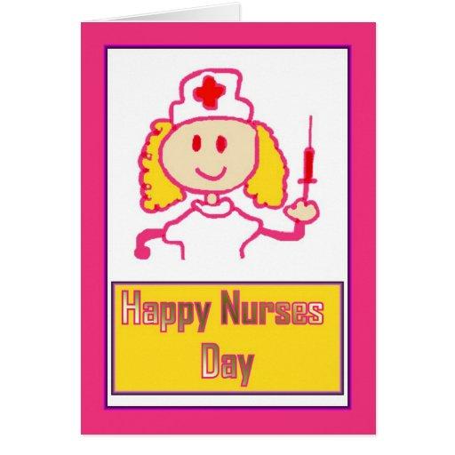 Día feliz de las enfermeras para la enfermera que  felicitacion