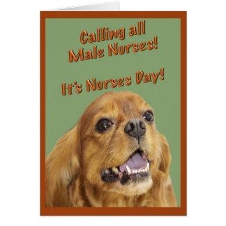 Día feliz de las enfermeras para la tarjeta de fel