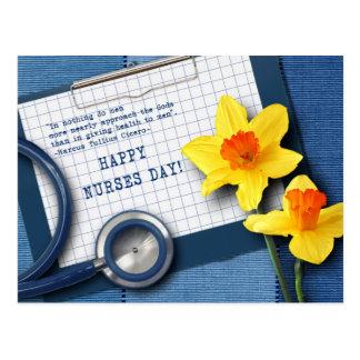 Día feliz de las enfermeras. Postales adaptables