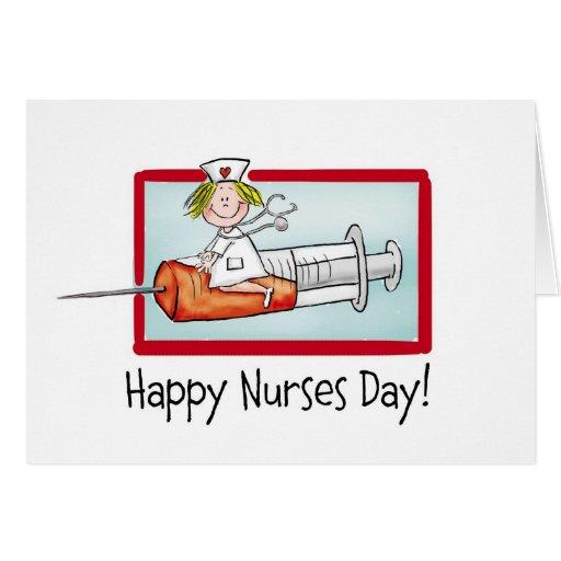 Día feliz de las enfermeras felicitacion