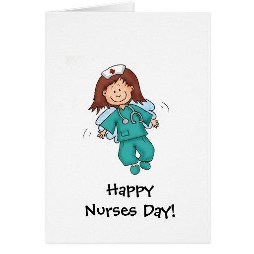 Día feliz de las enfermeras - tarjeta de felicitac