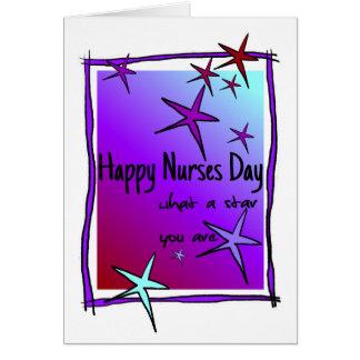 Día feliz de las enfermeras tarjeta de felicitación