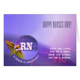 Día feliz de las enfermeras. Tarjetas de